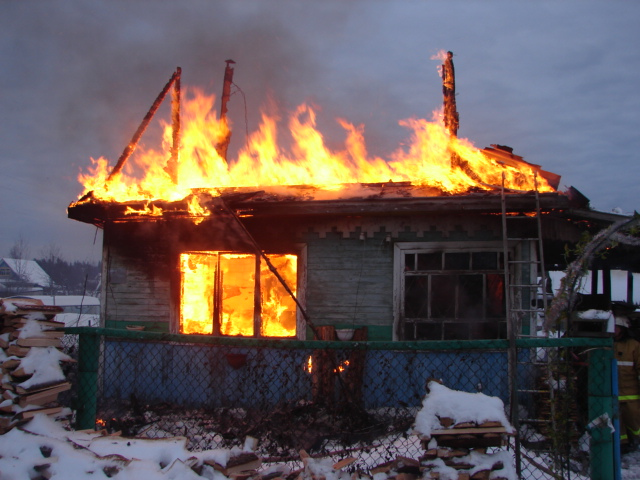 У садоводов пожар