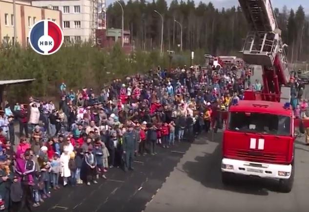 Показ пожарной техники СУ ФПС №5 МЧС России