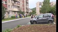 Благоустроенный двор дома по адресу Комсомольская, 19А