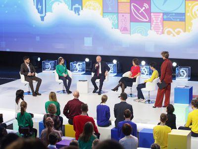 Новоуральские школьники пообщались с президентом РФ В.В. Путиным