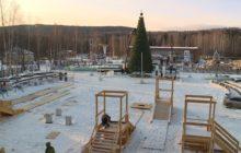 Новогодний городок в Новоуральске растет не по дням, а по часам!
