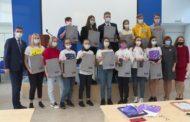 Новоуральских школьников чествовали в Управлении образования